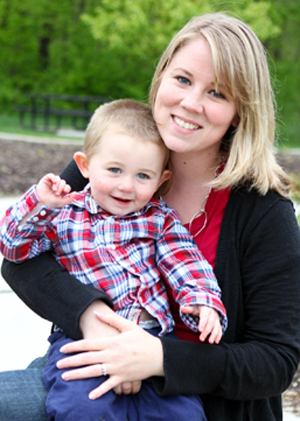 Tracy Schlater and her son