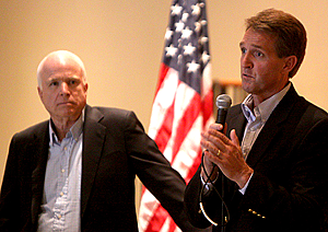 Sen. John McCain and Sen. Jeff Flake